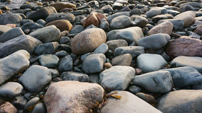 Rocks near the atlantic ocean stock photography