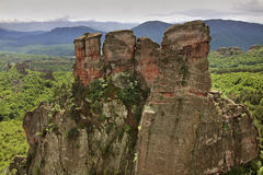 Rocks  near Belogradchik town. Bulgaria Royalty Free Stock Photo