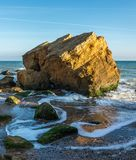 Rocks near the Black Sea coast. Near the village of Fontanka, Odessa region, Ukraine stock images