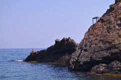 Rocks near the Black Sea Stock Photography