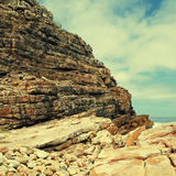 Rocks near Cape of Good Hope, South Africa. Royalty Free Stock Images