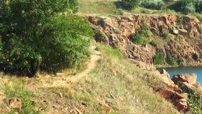 Rocks near the lake stock video