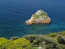 Rocks near Masua in Southwest Sardinia, Italy Royalty Free Stock Images