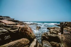 Rocks Near By The Ocean Royalty Free Stock Images