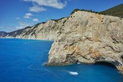 Rocks near Porto Katsiki Beach, Lefkada, Greece Stock Images