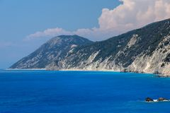 Rocks near Porto Katsiki Beach, Lefkada, Greece Royalty Free Stock Photography