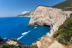 Rocks near Porto Katsiki Beach, Lefkada, Greece Stock Photo