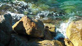 Rocks near the Sea stock video footage