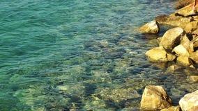 Rocks near the Seaside stock video