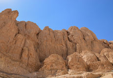 Rocks near the Temple of Hatshepsut Royalty Free Stock Photo