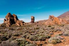 Rocks near volcano Teide in Tenerife island - Canary Spain Stock Images