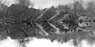 Rocks near the water in Great Falls Park, Maryland, USA. Royalty Free Stock Image