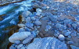 Rocks next to the river Royalty Free Stock Photography
