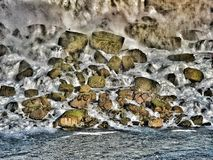 Rocks from Niagara falls royalty free stock photo