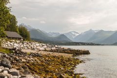Rocks in Norway. Beautiful rocks and mountains in Norway Royalty Free Stock Photos