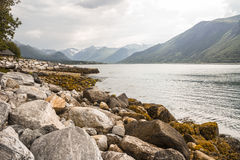 Rocks in Norway. Beautiful rocks and mountains in Norway Royalty Free Stock Images