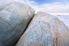 Rocks in Norway mountains near the sea Royalty Free Stock Images