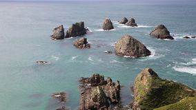 Rocks of Nugget Point stock footage