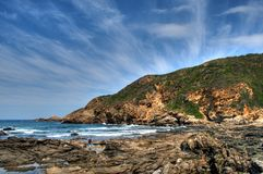 Rocks and ocean stock image
