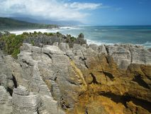 Rocks and ocean. On southern island in new zealand Royalty Free Stock Photos