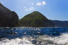 Rocks in ocean, Indonesia Stock Images