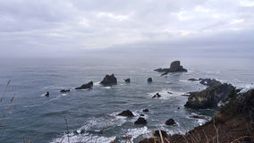 Rocks in the ocean. Near Cannon Beach Royalty Free Stock Photo