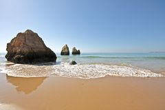 Rocks and ocean in Portugal Stock Photos