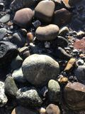 Rocks in ocean Stock Image