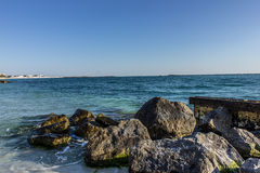 Rocks on the Ocean Shore Stock Photography