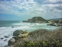 Rocks and Ocean at Tayrona Nature Park in Colombia Royalty Free Stock Photography