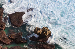 Rocks in the ocean Royalty Free Stock Photo