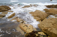 Rocks and ocean waves Royalty Free Stock Photo