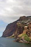 Rocks och klippor av Ribeira Brava, Madeira Royaltyfri Bild