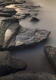 Rocks at Old Hartley. Stock Photo