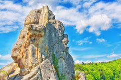 Rocks of Olexa Dovbush. Carpathian mountains. The Rocks of Olexa Dovbush. Carpathian mountains royalty free stock images