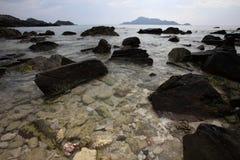 Rocks On Beach Royalty Free Stock Photos