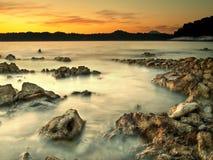 Rocks On The Beach Stock Photography