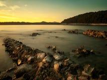 Rocks On The Beach Stock Photos