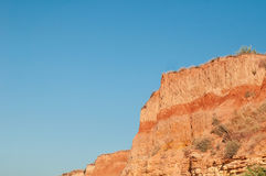 Rocks. Orange rocks and blue sky royalty free stock images