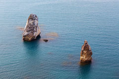 Rocks Orestes And Pylades Near Cape Fiolent. Royalty Free Stock Images