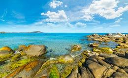 Rocks in Orri shoreline. Sardinia, Italy Stock Photo