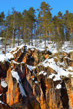 Rocks in Oulanka Royalty Free Stock Photography