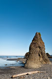 Rocks at Pacific Ocean in Ruby Beach Royalty Free Stock Photo
