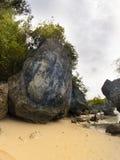 Rocks at padang padang beach. Stock Photography