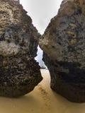 Rocks at padang padang beach. Stock Images