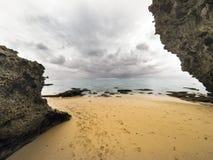 Rocks at padang padang beach. Royalty Free Stock Photo