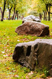 Rocks in the park Royalty Free Stock Photography