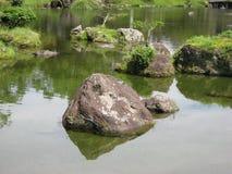 Large Rocks in a Lake Stock Image