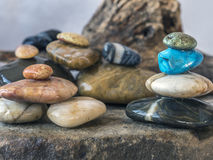 Rocks and pebbles in arrangement Royalty Free Stock Photography