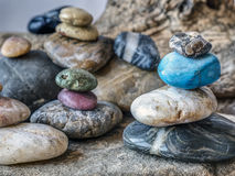 Rocks and pebbles in arrangement Stock Image
